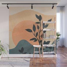Orange Rising Sun Wall Mural