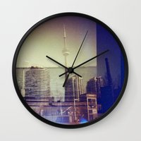 toronto Wall Clocks featuring Toronto by Jordan Osbourne