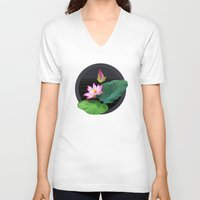 lily V-neck T-shirts featuring Lily by Linda Wanders