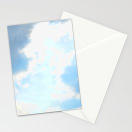 blue, cloud study Stationery Cards