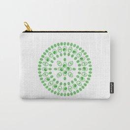 Kiwi & Avocado • Mandala Carry-All Pouch