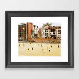 Barcelona Football Framed Art Print