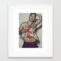 in the flesh Framed Art Prints featuring Flesh by Kayleigh Shawn