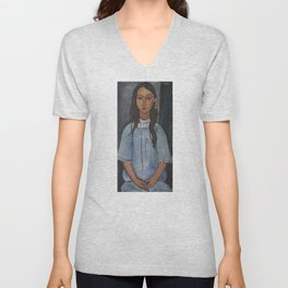 Alice by Amedeo Modigliani Unisex V-Neck