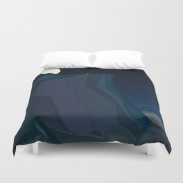 fairy landscape (at night) Duvet Cover