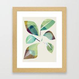 Loosey Goosey Leaves Framed Art Print