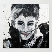 hepburn Canvas Prints featuring Hepburn by Claire Goodspeed