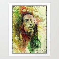 Reggae Rebel (Marley) Art Print