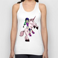 roller derby Tank Tops featuring Roller Derby Unicorn by RonkyTonk