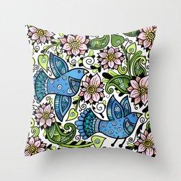 Blossom Spring Throw Pillow