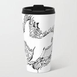 Whale Lineart Travel Mug