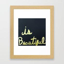 Black is Beautiful Framed Art Print