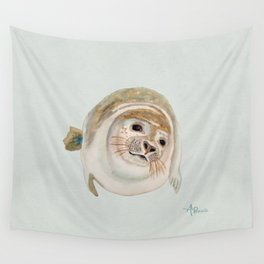 Sea Lion Watercolor Wall Tapestry
