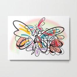 Schmetterlinge - butterflies Metal Print