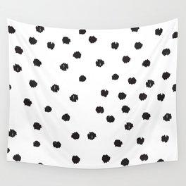 Scribble Polka Dots Wall Tapestry