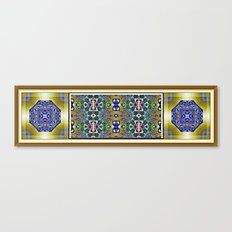 Emerald, Gold and Lapis Canvas Print
