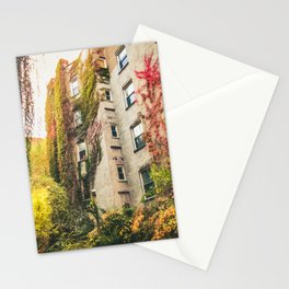 Autumn - New York City - East Village Garden Stationery Cards