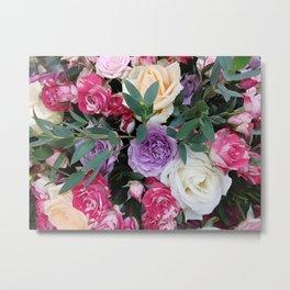 Colorful roses bouquet Metal Print
