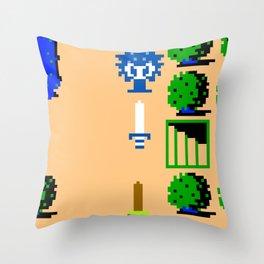 Minion's Last Rites: Zelda's Octorok Throw Pillow