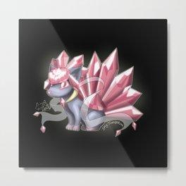 fusion - crystal Metal Print