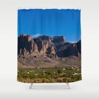arizona Shower Curtains featuring Arizona by Katie Villarreal