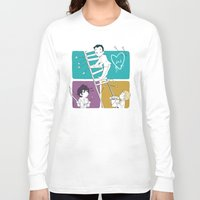 moriarty Long Sleeve T-shirts featuring Catch Moriarty! by sadyna