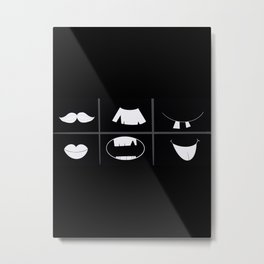 Mouths And Mustaches Metal Print