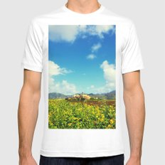 Sugar Mill White MEDIUM Mens Fitted Tee