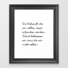 Joseph Beuys Framed Art Print
