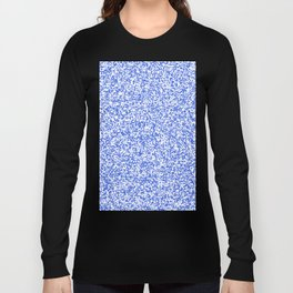 Tiny Spots - White and Royal Blue Long Sleeve T-shirt