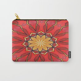 Ochre and Red Abstract Kaleidoscope Carry-All Pouch