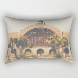 all the colours & curves of the botanical building in Balboa Park, San Diego Rectangular Pillow