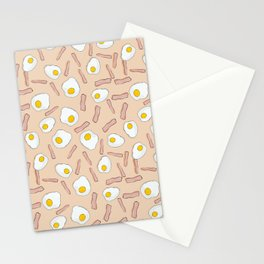 Eggs and bacon Stationery Cards
