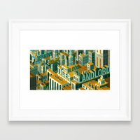 meme Framed Art Prints featuring 'Meme City' by Justin Claus Harder
