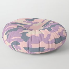 Pink Military Camouflage Pattern Floor Pillow