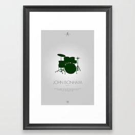 Musician Series - John Bonham Framed Art Print