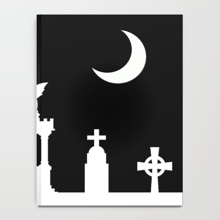 The Graveyard By Moonlight Notebook