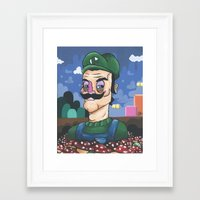 luigi Framed Art Prints featuring Luigi by Cody Fisher