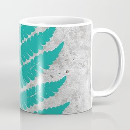 Natural Outlines - Fern Teal & Concrete #180 Coffee Mug