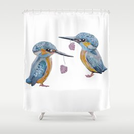 Kingfishers Shower Curtain