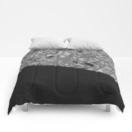 Terrazzo Texture Grey Black #7 Comforters