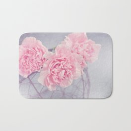 Pale Pink Carnations Bath Mat