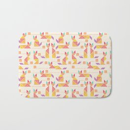 Tangram Cats Bath Mat