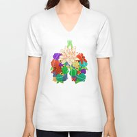 lungs V-neck T-shirts featuring lungs by Taylor {GANGST★R}