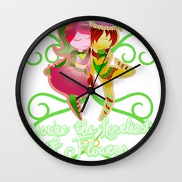 The loveliest flower Wall Clock