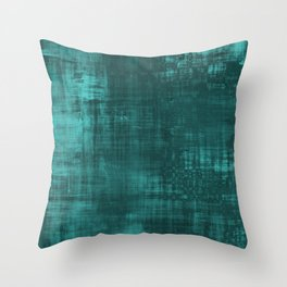 Teal Green Solid Abstract Throw Pillow