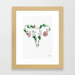 flower uterus Framed Art Print