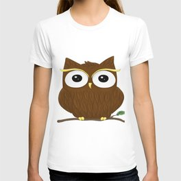 Animal owl graphic bird cute T-shirt