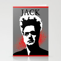 "martell Stationery Cards featuring ""JACK"" ~ Eraserhead Jack Nance ~ David Lynch ~ Twin Peaks by DJ Lynchpin"