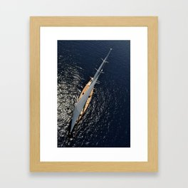 big sailing yacht Framed Art Print